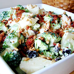 Photo from http://allrecipes.com/Recipe/Fresh-Broccoli-Salad/Detail.aspx